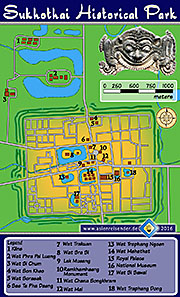 Thumbnail 'Map of Sukhothai Historical Park' by Asienreisender